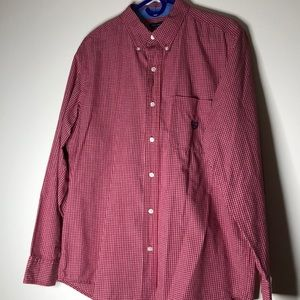 Mens Red and White checkered Casual button up